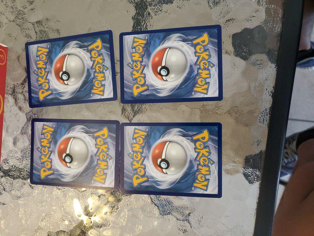4 Pokemon Card Lot