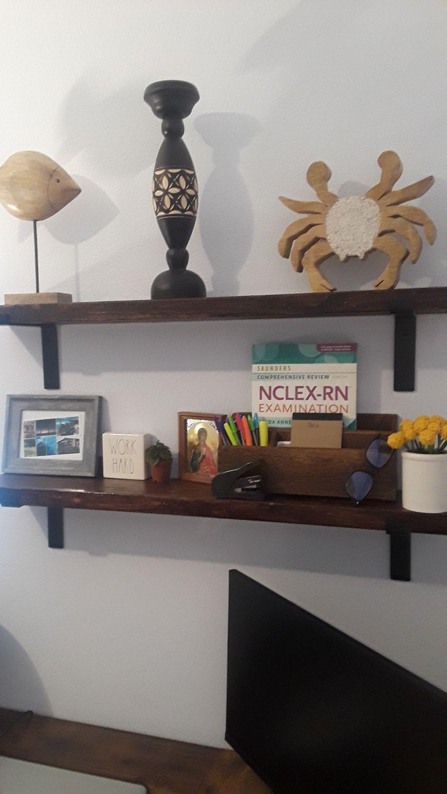 Wood decorative shelves