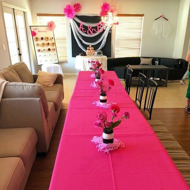 Party supplies for Kate Spade inspired bridal shower