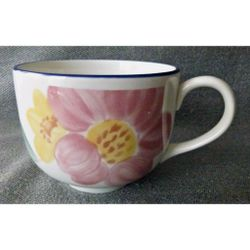 Big Coffee/Tea/Soup Cup/Mug Floral Made in England Thumbnail