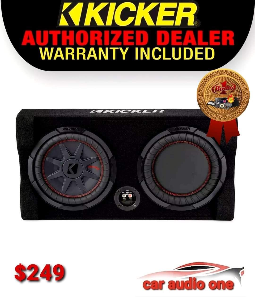 Kicker 12 Inch Subwoofer With Costume Box