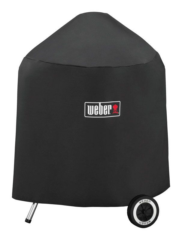 Weber Black Grill Cover For 18 inch Weber charcoal grills 20.5 in. W x 32.5 in. H - Case Of: 1;
