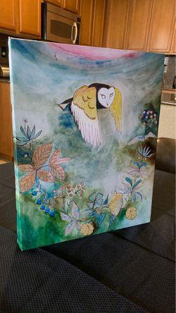 Wall Decor owl flowers Thumbnail