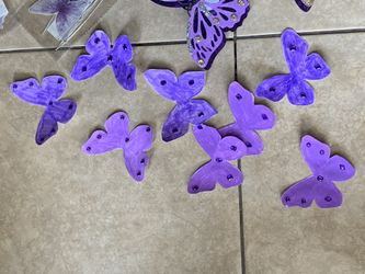 Purple Butterfly Party Decorations Number 1 Balloons Thumbnail
