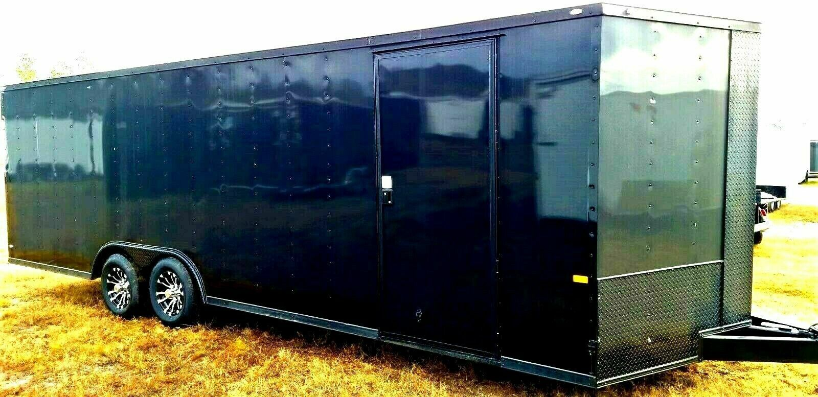 ENCLOSED TRAILERS ALL SIZES-20 24 28 32 VNOSE-SNOWMOBILE CAR HAULER STORAGE MOVING MOTORCYCLE ATV UTV QUAD SIDE BY SIDE