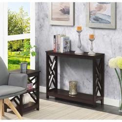 Titan Console Table with Shelf, Espresso Thumbnail