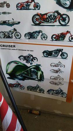 Harley-Davidson, Indian. Motorcycle poster Thumbnail