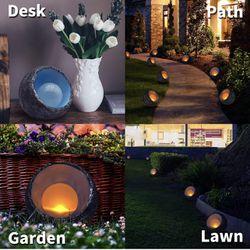 Solar Lights Outdoor Decorative, Resin Dinosaur Egg Solar Powered Outdoor Lights Decor, Waterproof Amber LED Landscape Lighting for Garden Patio Porch Thumbnail