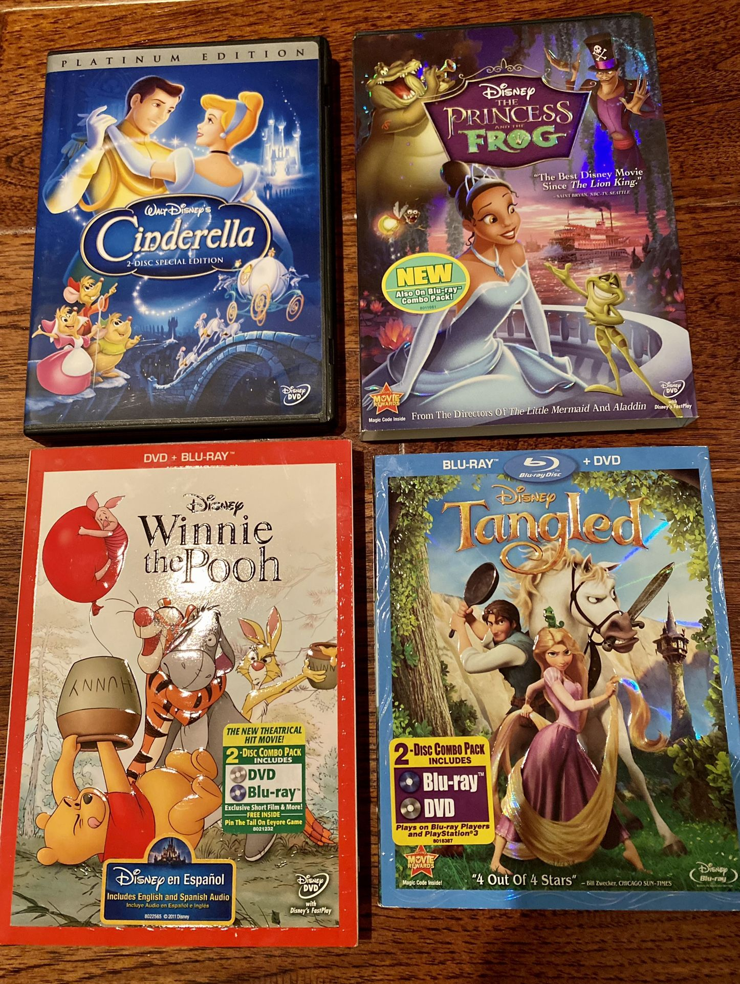 $5 Each. Disney classics DVDs & Blu-rays