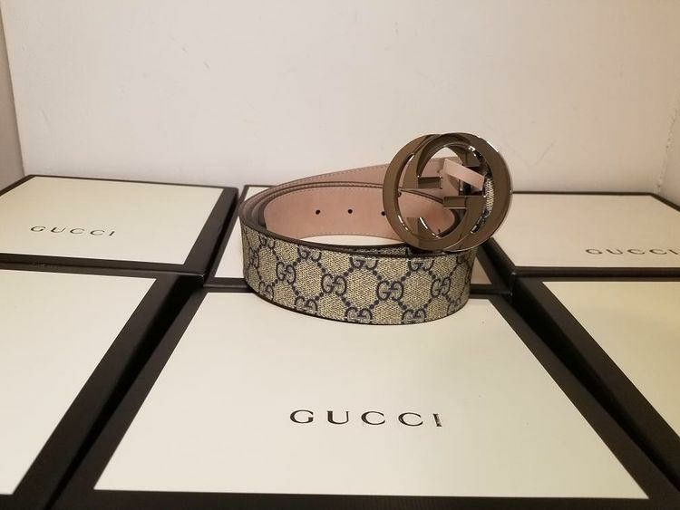 Gucci Supreme Beige Authentic Belt