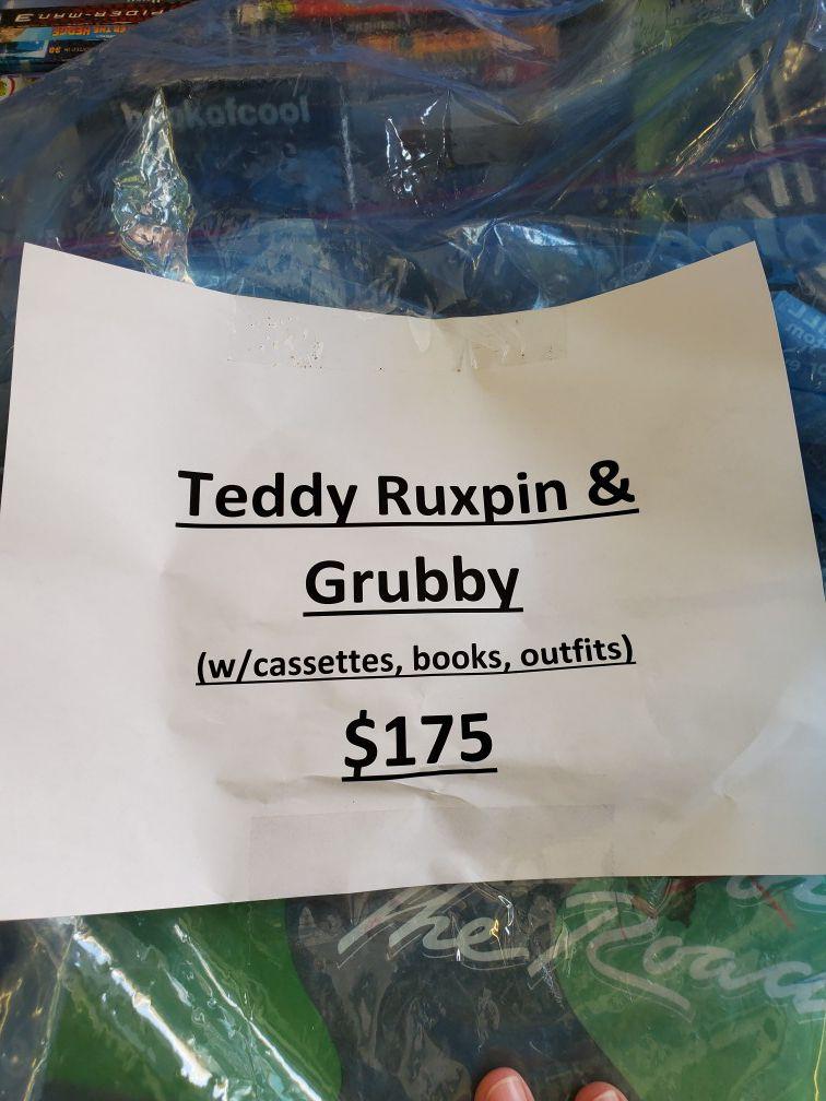 Teddy Ruxpin & Grubby Dolls
