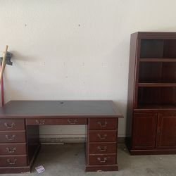 Executive Desk With Shelf  Thumbnail