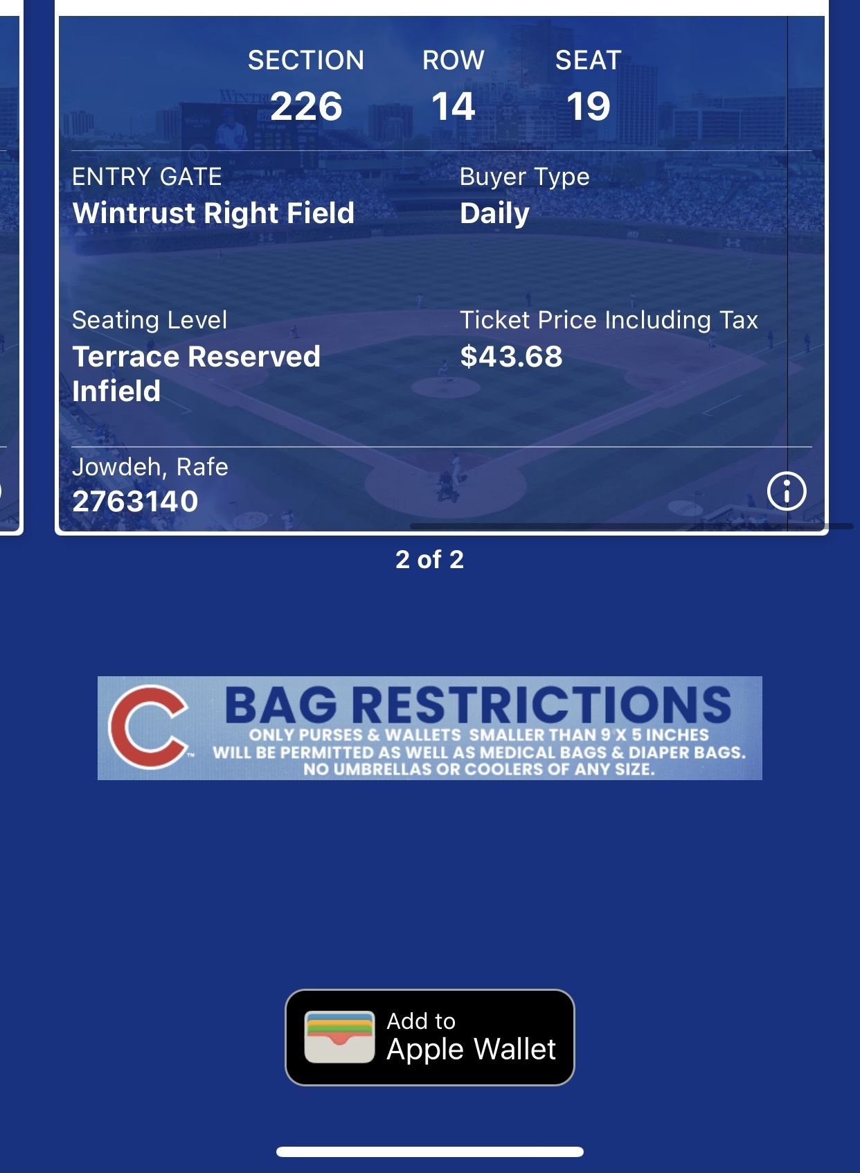 Cardinals Vs Cubs Tickets (cash App Only)