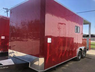 Bbq porch concession trailer w open porch 8.5x20 Thumbnail