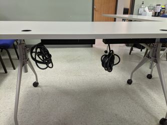2 Rectangular power sit to stand tables selling by each Thumbnail