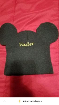 Darth Vader Mickey Mouse Ears Beanie Thumbnail