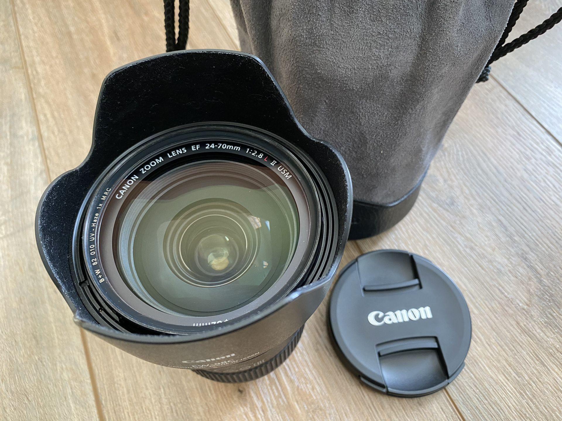 Canon EF 24-70mm F/2.8L II USM Prime Lens With B+W UV