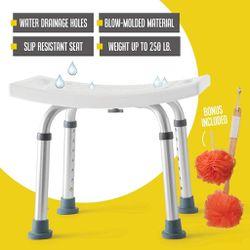 8 Height Bariatric Bath Bench Shower Chair Stool Heavy Duty Shower Tub Chair Thumbnail