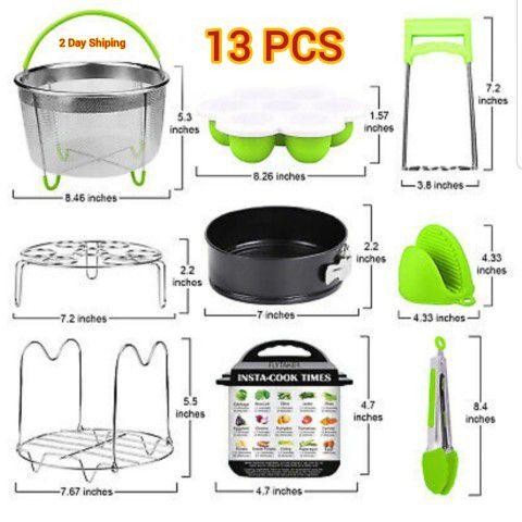 Instant pot accessories 6, 8 qt for pressure cooker , kitchen kits 13 pcs