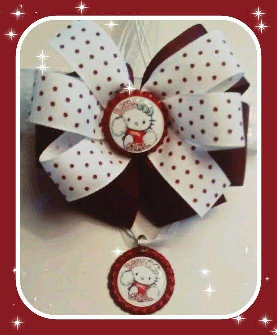Alabama Crimson Tide Inspired handmade hair bow & Necklace Set