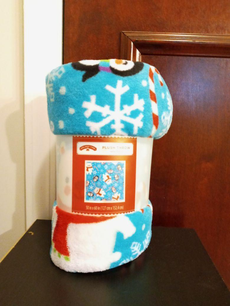 Christmas Plush throw blanket