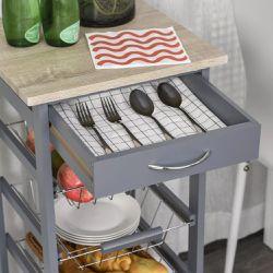 Rolling Kitchen Storage Cart on 360° Wheels Thumbnail
