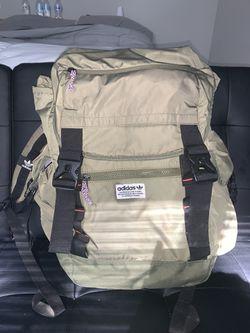 Olive Green Adidas backpack Thumbnail