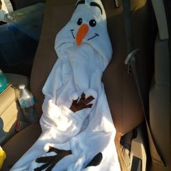 Olaf Plush Hooded Towel With Gloves All One Piece Thumbnail