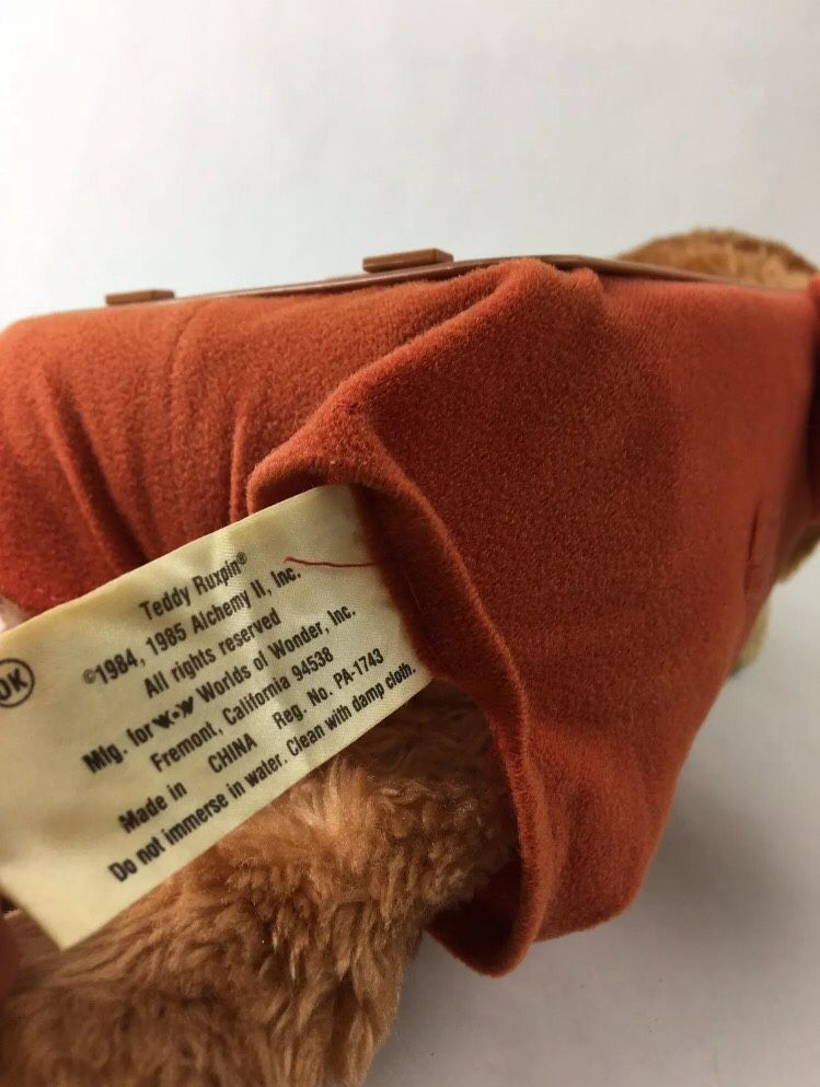 Vintage Retired 1984-1985 TEDDY RUXPIN Talking Toy Bear With Tape (The Airship) Works DS USA Sound Works