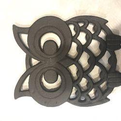 Cast Iron Owl Hot Pad/ Decorative Piece Thumbnail