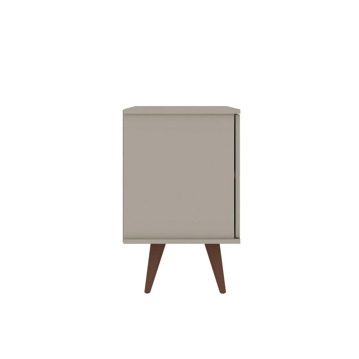 Hampton 33.07 Accent Cabinet with 2 Shelves Solid Wood Legs in Off White