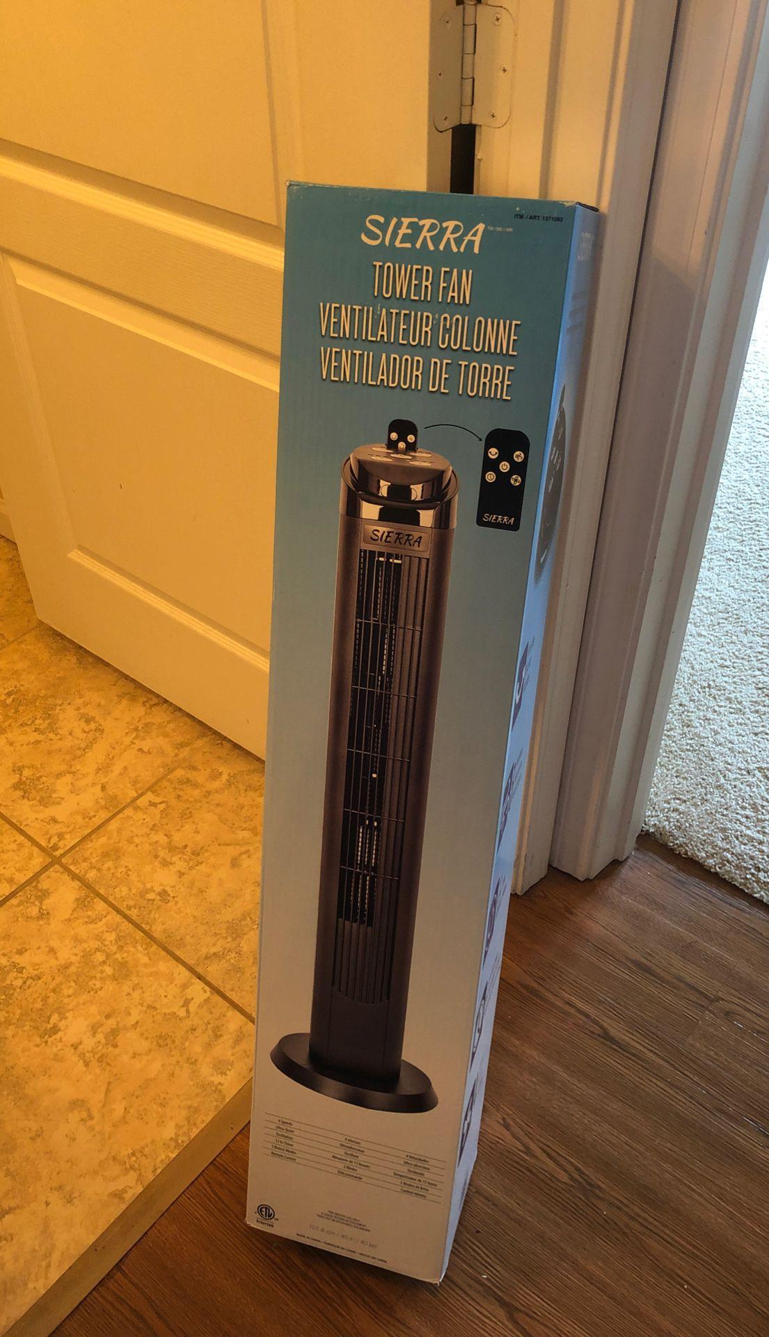 Sierra tower fan , 4 speed plus oscillation
