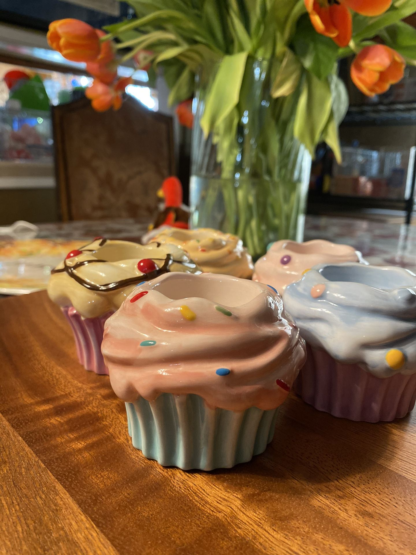 Cupcake tea light holders (5)