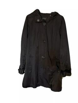 Jones New York Womens Rain Jacket Black Windbreaker Waterproof. Thumbnail