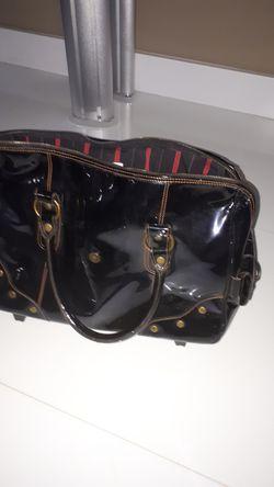 GJ Gillian Julius Eco Leather Rolling Bag Thumbnail