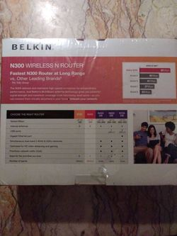 Belkin N300 wireless router Thumbnail