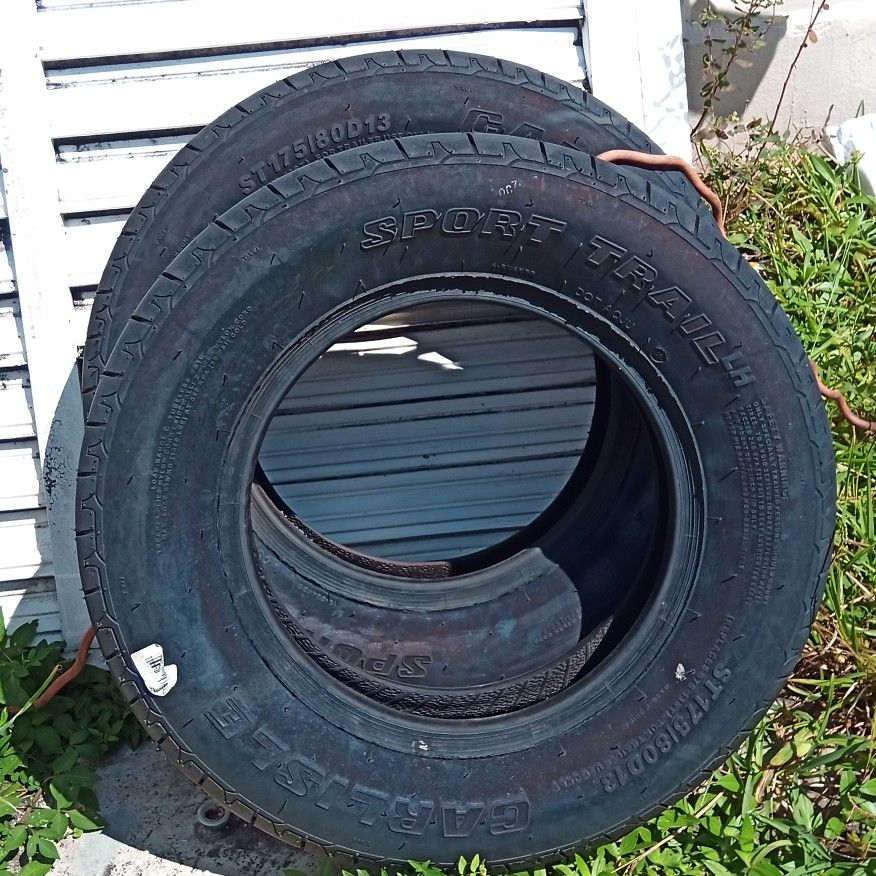 Carlisle 13 Inch Trailer Tires New $50 For Both