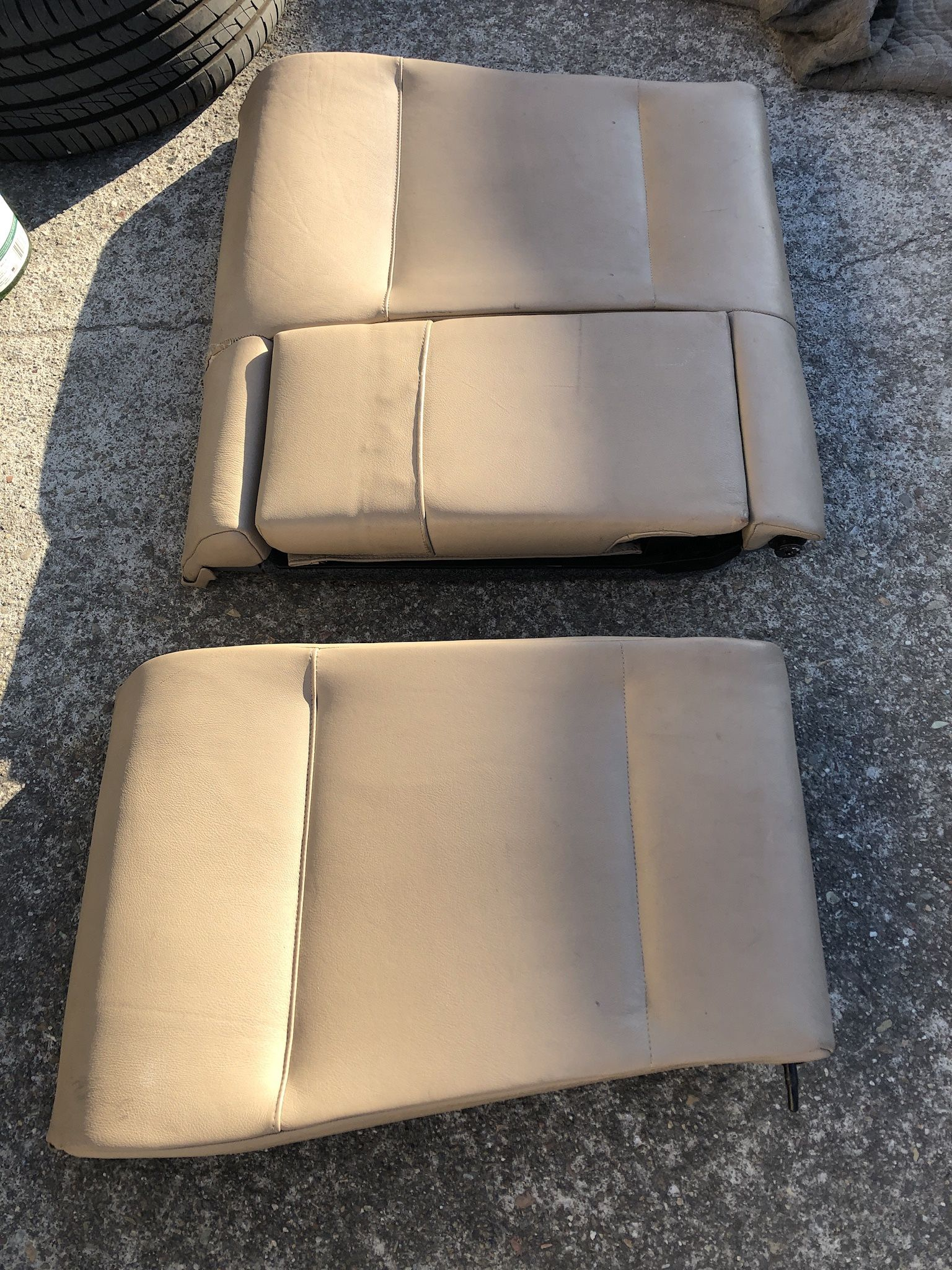 BMW Tan Leather Rear Set Of Seats