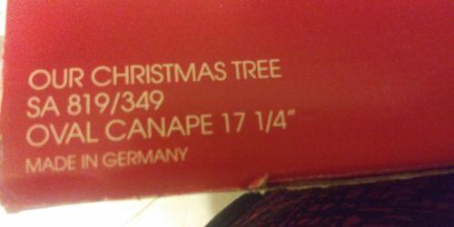 "Oval canape crystal platter ""Christmas Tree"" 17 1/4"" by Home beautiful Mikasa Thumbnail"
