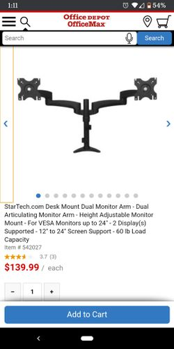 Startech Articulating Dual Monitor Stand Thumbnail
