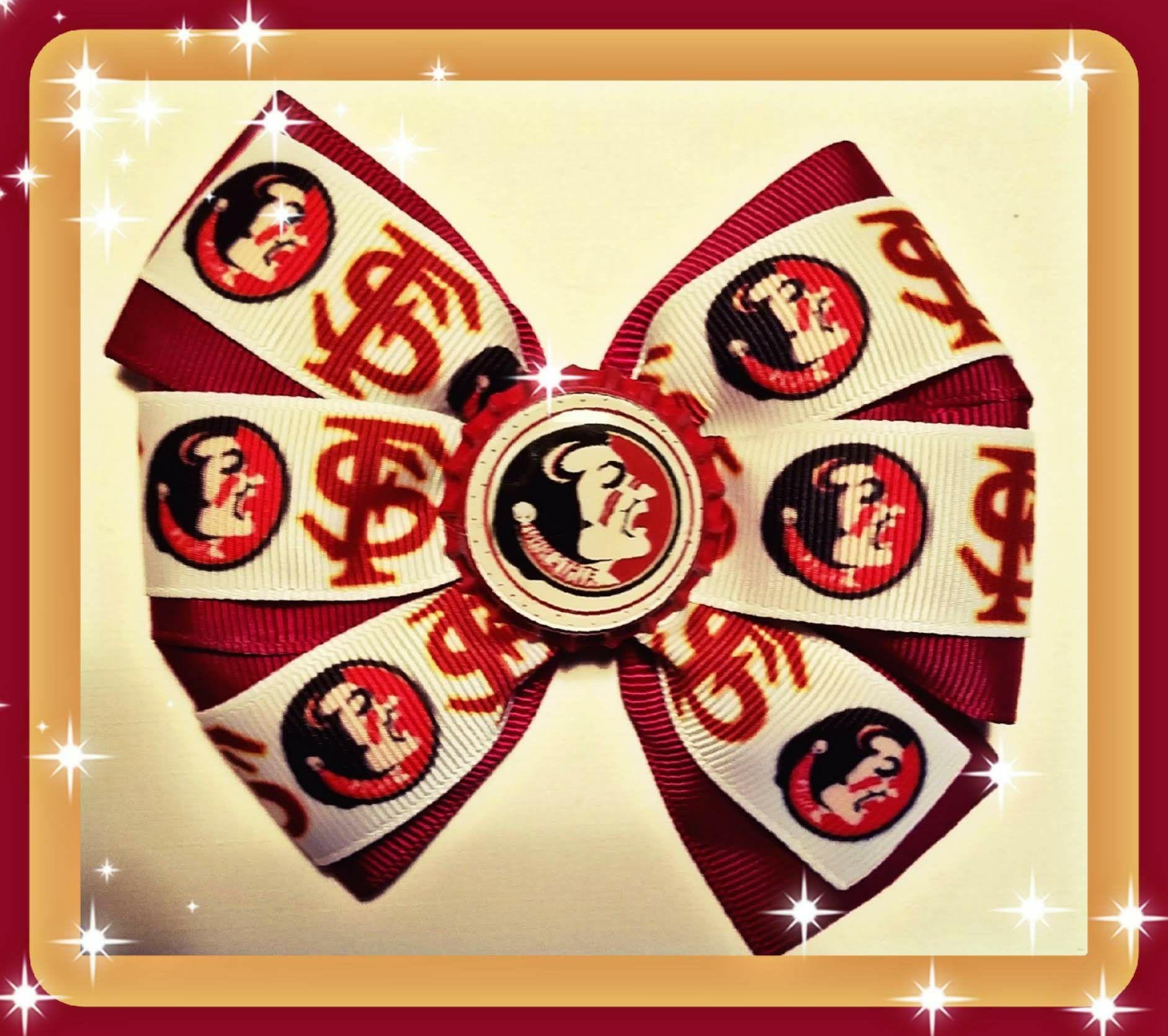 FSU Seminoles Inspired handmade hair bows