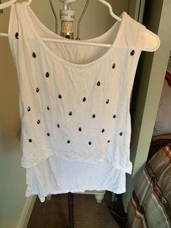 White casual blouse Thumbnail