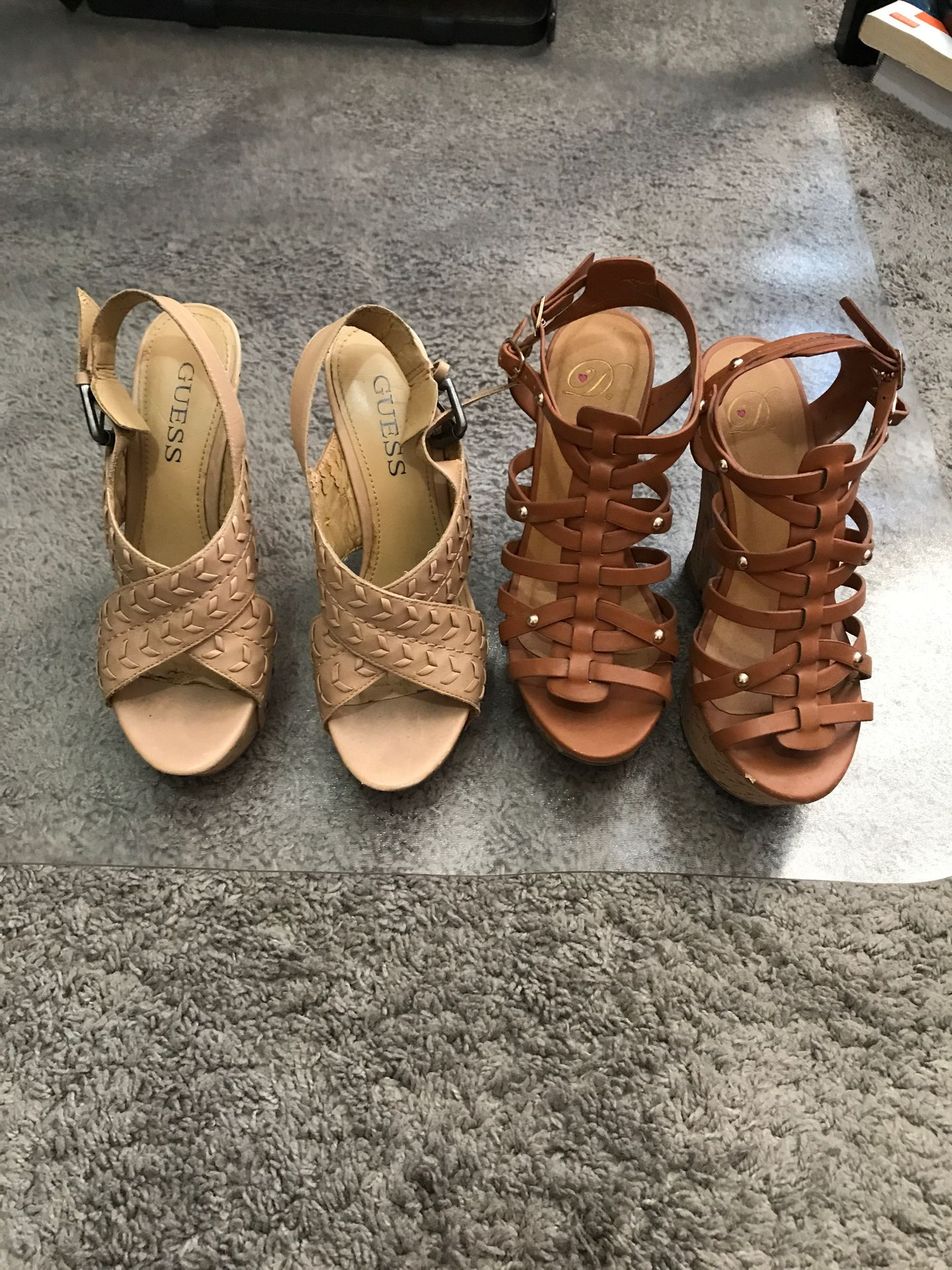 Size 6 Cute Wedges