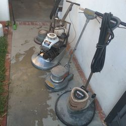 Diamond Propane Speed Buffer And Two Floor Scrubbers For Commercial Floor Waxing Thumbnail