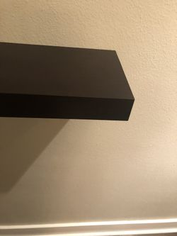 Three Dark Brown Floating Shelves (brackets included) Thumbnail