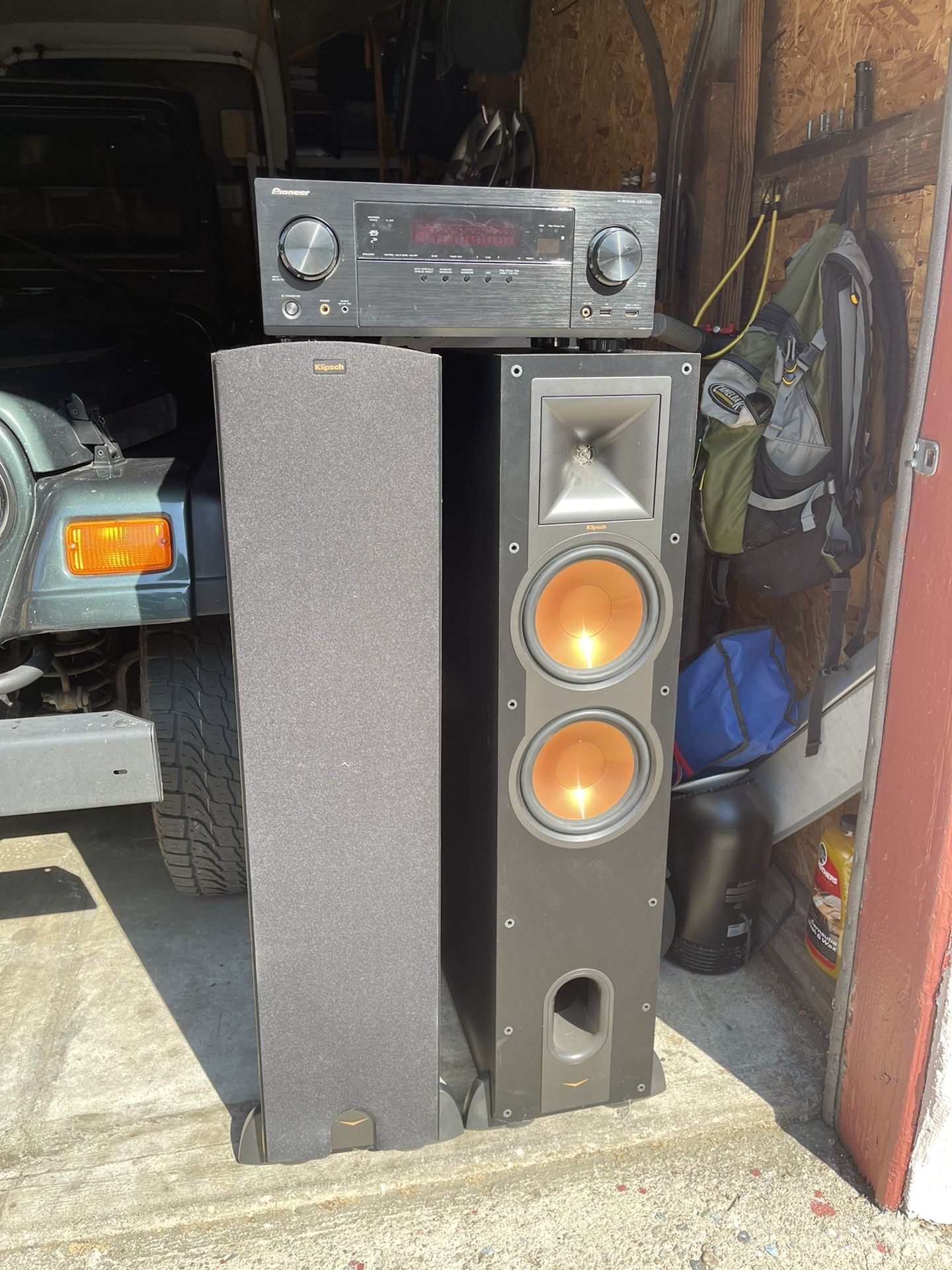 Klipsch Floor Speakers + Pioneer Receiver