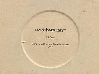 (New)Rachael Ray Stoneware 2.5Quart Casseround Covered Round Casserole, Orange Thumbnail
