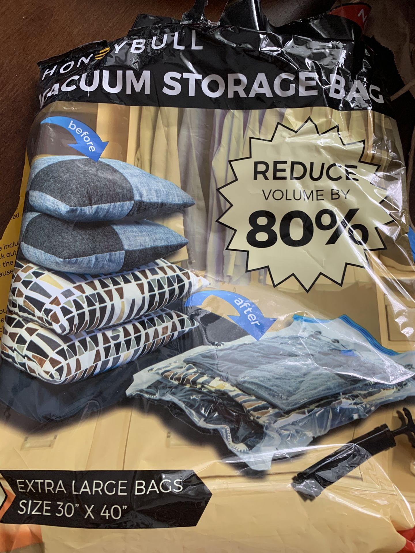 Vacuum storage Bags Brand New, With Free Hand Pump