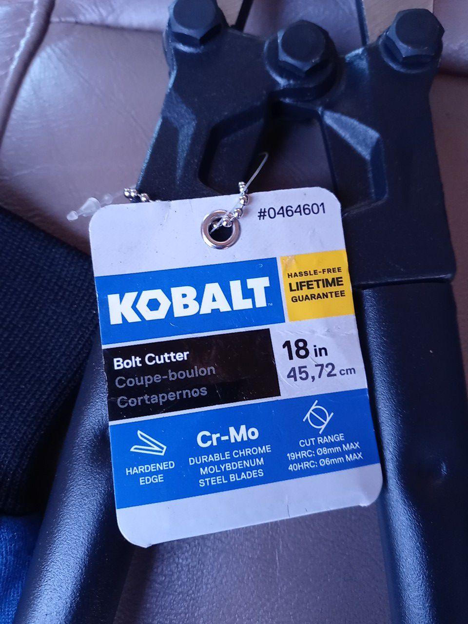 Kobalt BOLT CUTTERS ..WITH DODGERS GLOVES BUNDLE