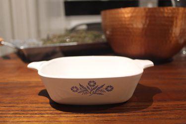 Set Of 2 Corning Ware Blue Cornflower P-41-B Petite Pans ~ 2 3/4 Cup No Lids Thumbnail